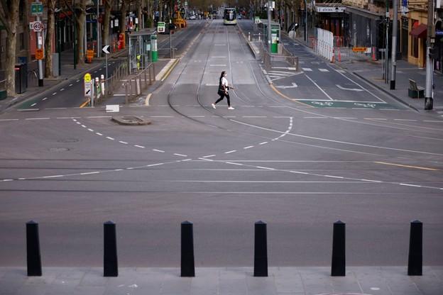 Pusta ulica w Melbourne