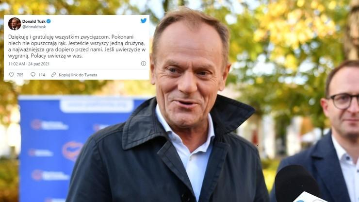 Tusk wybrany przewodniczącym PO. Oficjalne wyniki wyborów
