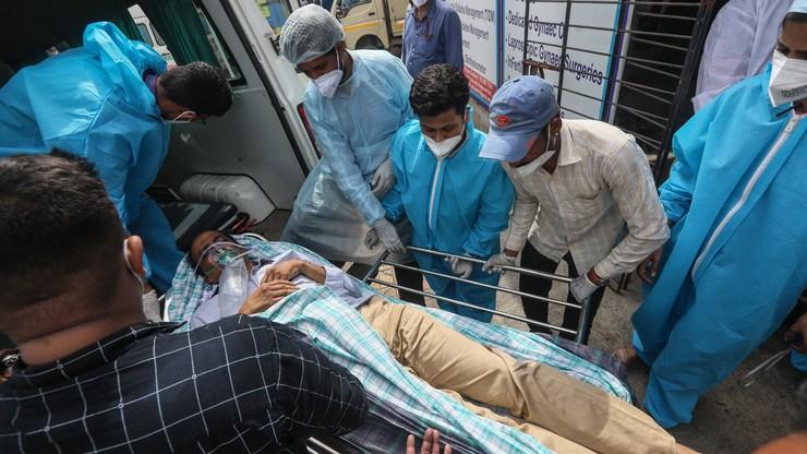 Indie. 13 pacjentów z Covid-19 zginęło w pożarze szpitala