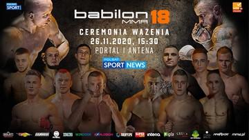 Ważenie przed galą Babilon MMA 18