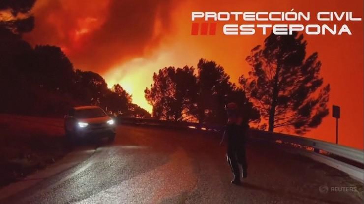 Hiszpania. Pożar lasów w Andaluzji. Ewakuacja pół tysiąca osób