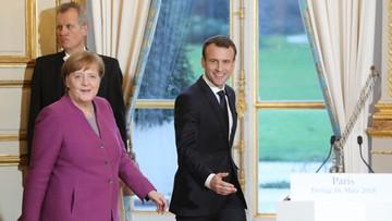 Macron i Merkel opracują wspólny plan reform Unii Europejskiej