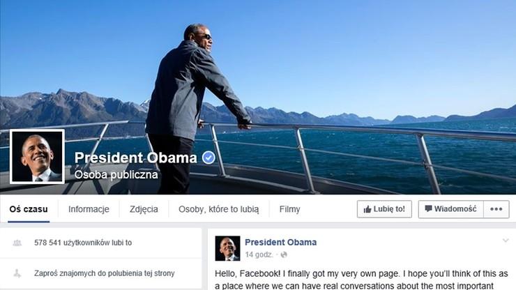Obama założył prywatne konto na Facebooku. Zobacz pierwszy wpis